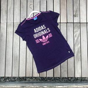 ADIDAS Purple & Pink Crew Neck Short Sleeve Tee